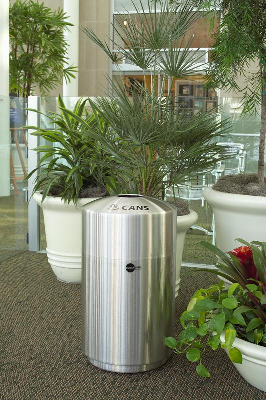 Cleanline Envirospin Stainless Steel Recycling Can