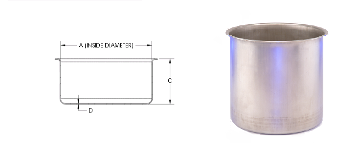 Flanged-Deep Drawn Cups-With-CAD