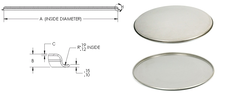 Stainless Steel Beaded Flat Lids