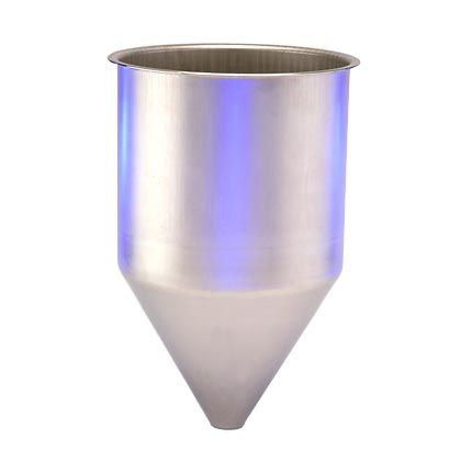 SS304 Seamless Hopper, 4.9 Gallon, 11.83 Inch Diameter