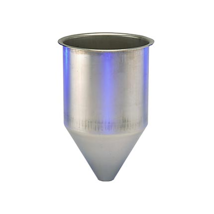 SS304 Seamless Hopper, 3 Gallon, 8.85 Inch Diameter