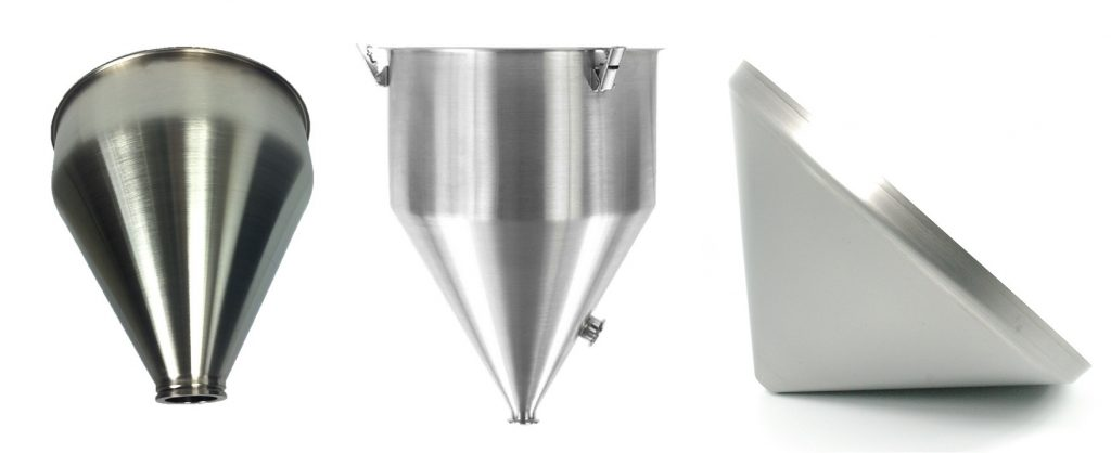 Custom Metal Spun Hopper Funnels
